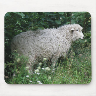 Cute Greedy Sheep Eating Mousepad
