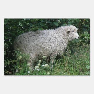 Cute Greedy Sheep Eating Yard Sign