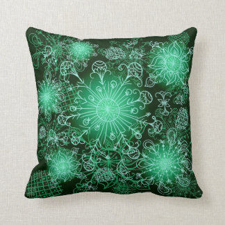Cute Green Abstract Throw Pillow