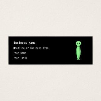 Cute Green Alien. Cartoon. Mini Business Card