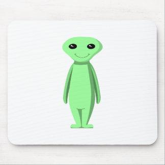 Cute Green Alien. Cartoon. Mousepads