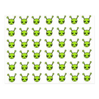 Cute Green Aliens Postcard