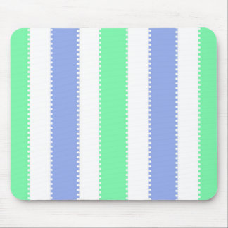 Cute Green and Purple Dots and Stripes Mouse Pad