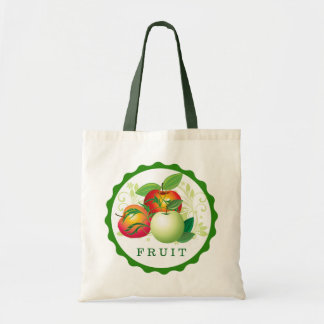 Cute Green And Red Apples Illustration Tote Bag