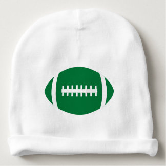 Cute Green and White Football Baby Game Day Beanie