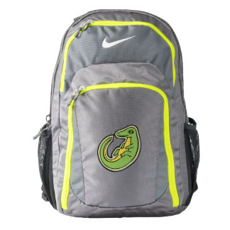 Cute Green And Yellow Alligator Drawing Design Backpack