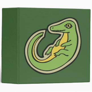 Cute Green And Yellow Alligator Drawing Design Binders