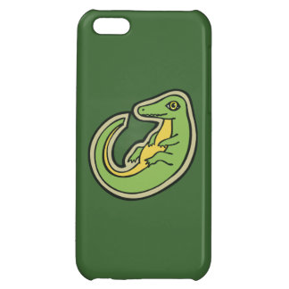 Cute Green And Yellow Alligator Drawing Design Case For iPhone 5C