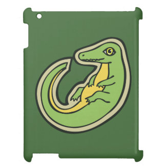 Cute Green And Yellow Alligator Drawing Design iPad Covers