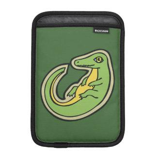 Cute Green And Yellow Alligator Drawing Design iPad Mini Sleeve