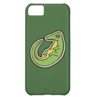 Cute Green And Yellow Alligator Drawing Design iPhone 5C Case