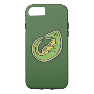 Cute Green And Yellow Alligator Drawing Design iPhone 7 Case