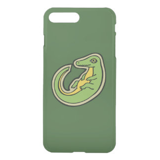 Cute Green And Yellow Alligator Drawing Design iPhone 7 Plus Case