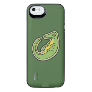 Cute Green And Yellow Alligator Drawing Design iPhone SE/5/5s Battery Case