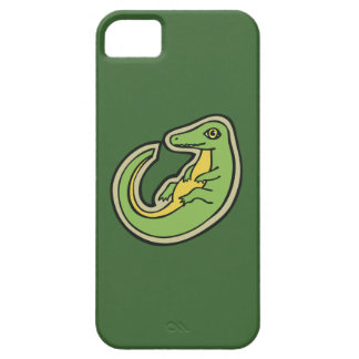Cute Green And Yellow Alligator Drawing Design iPhone SE/5/5s Case