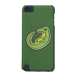 Cute Green And Yellow Alligator Drawing Design iPod Touch 5G Case