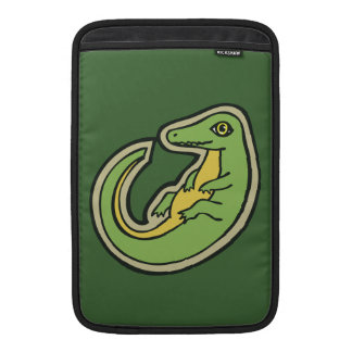 Cute Green And Yellow Alligator Drawing Design MacBook Air Sleeve