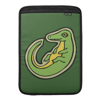 Cute Green And Yellow Alligator Drawing Design MacBook Air Sleeves