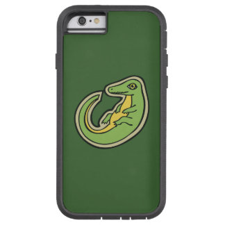 Cute Green And Yellow Alligator Drawing Design Tough Xtreme iPhone 6 Case