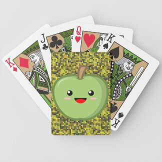 Cute Green Apple Bicycle Playing Cards