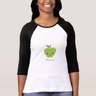 Cute Green Apple Fruit Love Tee Shirt