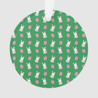 Cute green baby bunny easter pattern