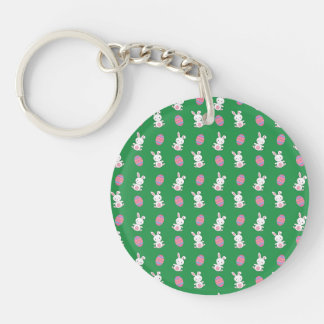 Cute green baby bunny easter pattern key chains