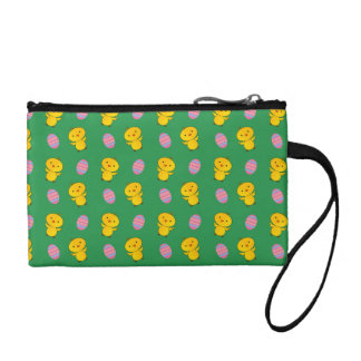 Cute green baby chick easter pattern coin purses