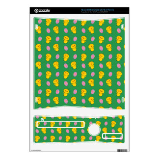 Cute green baby chick easter pattern decals for xbox 360 s