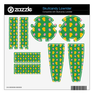 Cute green baby chick easter pattern skins for skullcandy