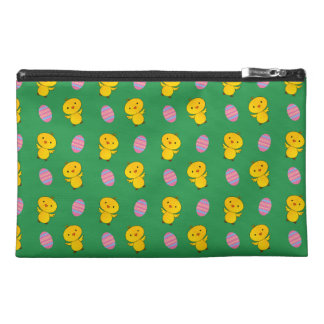 Cute green baby chick easter pattern travel accessories bags