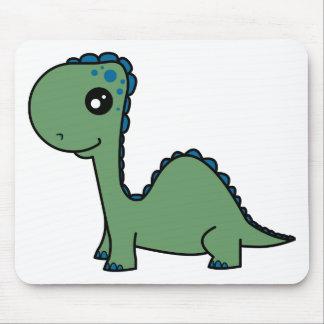 Cute Green Baby Dinosaur Mousepad