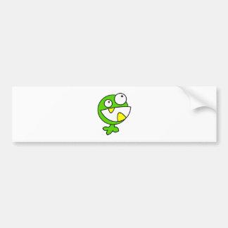 Cute Green Baby Monster Car Bumper Sticker