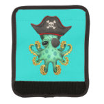 Cute Green Baby Octopus Pirate Handle Wrap