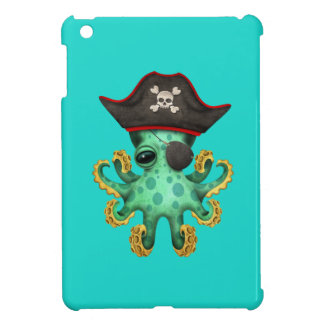Cute Green Baby Octopus Pirate iPad Mini Covers