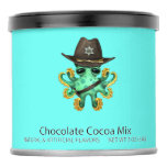 Cute Green Baby Octopus Sheriff Hot Chocolate Drink Mix