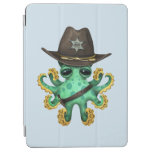 Cute Green Baby Octopus Sheriff iPad Air Cover