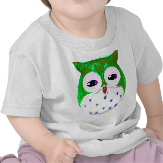 Cute Green Baby Owl T Shirt