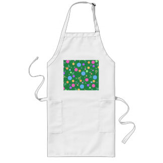 Cute green baby rattle pattern aprons