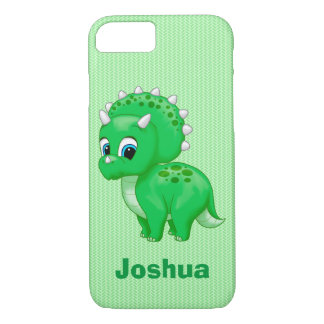 Cute Green Baby Triceratops Dinosaur iPhone 8/7 Case