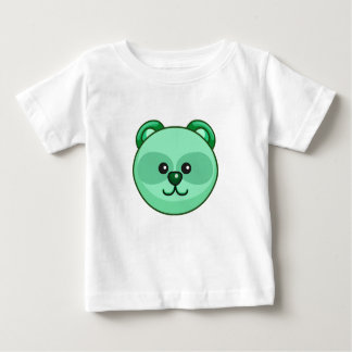 Cute Green Bear Character Customizable Baby Baby T-Shirt