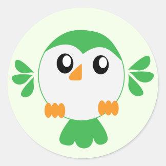 Cute Green Bird Stickers