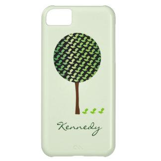 Cute Green Bird Tree iPhone 5 Case