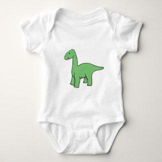 Cute Green Brontosaurus Baby Bodysuit