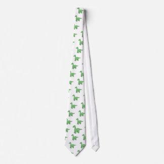 Cute Green Brontosaurus Neck Tie