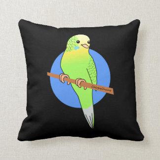Cute Green Budgie Cushion Throw Pillows
