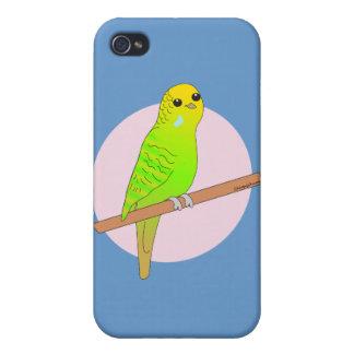Cute Green Budgie iPhone 4/4S Case