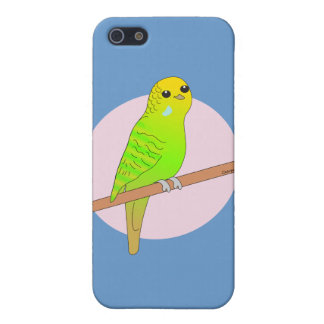 Cute Green Budgie Cover For iPhone 5