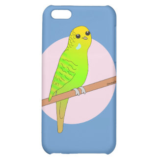 Cute Green Budgie iPhone 5C Covers