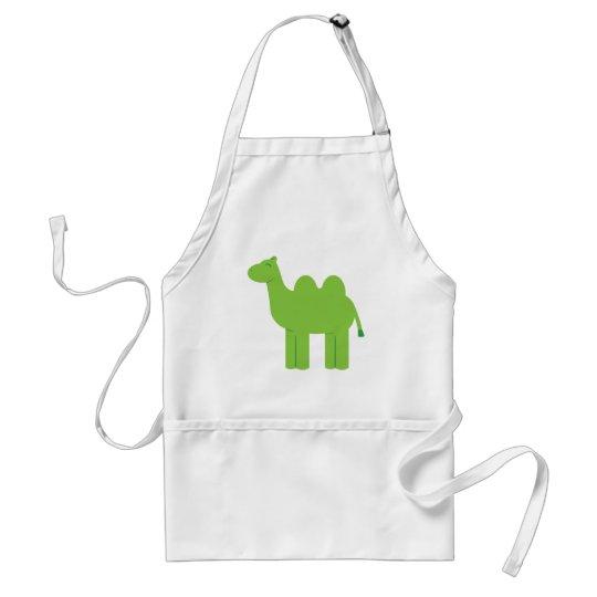 Cute Green Camel Adult Apron